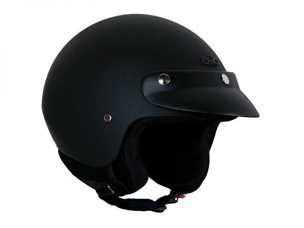 Vista lateral izquierdo casco color negro de la marca Nexx x60