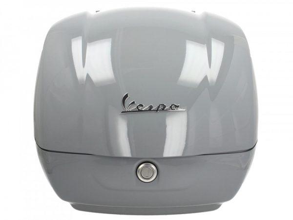 Frontal baúl vespa color blanco con logo