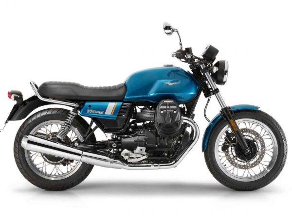 Moto Guzzi V7 III Special color azul con detalles en gris